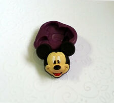 Silicone Mold 2D Mickey Mouse Face Mould (25mm) Fondant Clay Chocolate Candy