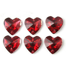 100pcs New Heart Faceted Sew-on Flatback Resin Embellishment Buttons 12mm BS