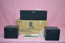 3 Sony SS-CR9, SS-SN9 Center and Rear Channel Speakers Vintage with Manuals