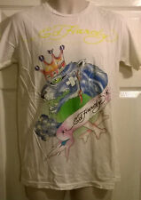 Mens ed hardy cream white t shirt top  LARGE , NEW