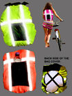 HIGH VIZ WATERPROOF RUCKSACK COVER BACKPACK PANNIER REFLECTIVE STRIPES COVER