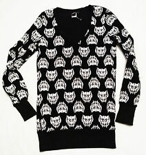 Emily The Strange NWOT Kitty Head Pullover Jumper Size Small Gothic Lolita Punk