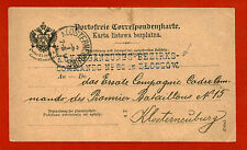 AUSTRIAN EMPIRE MILITARY MAIL 1895, ANNULS KUK COMMANDO 80 ZLOCZOW     m