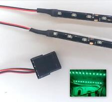 GREEN MODDING PC CASE LIGHT LED KIT (2  X 15CM STRIPS) MOLEX 40CM TAILS