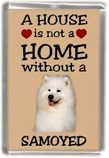 "Samoyed Dog Fridge Magnet ""A HOUSE IS NOT A HOME"" by Starprint"