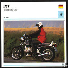 1992 BMW 1000cc R100R Roadster 980cc Bike Motorcycle Photo Spec Sheet Info Card