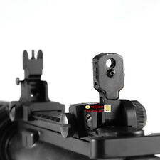 Iron Flip Up Front&Rear BUIS Floding Backup Sight QD Attach For Rifle Hunting