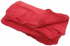 """100 INDUSTRIAL SHOP RAGS / CLEANING TOWELS RED LARGE 14""""x13"""" COMMERCIAL TOWELS"""