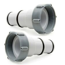 """Intex Replacement Adapter A for 1.5"""" Port to 1.25"""" Hoses 2 PACK Swim Pool"""