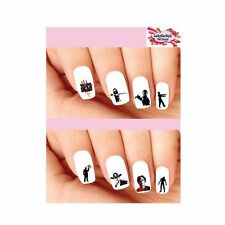 Waterslide Nail Decals Art Set of 20 - The Walking Dead Assorted