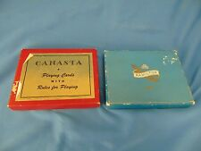 2 Card games Canasta deck with rules & regular playing cats guitar dancer art