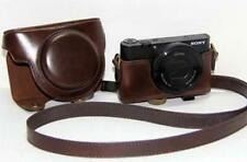 Leather Camera Case Bag For SONY Cyber Shot DSC RX100 III RX100 M3 Dark Brown