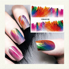 1 Sheet Nail Art Water Transfer Decal Colorful Painting Manicure Tips YZW-8139