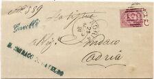 P8773   Rovigo, annullo lineare di Gavello + num. sbarre di adria, 1881