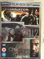 TERMINATOR SALVATION / 2012 / CHILDREN OF MEN  Film Triple | UK DVD w/ Slipcover