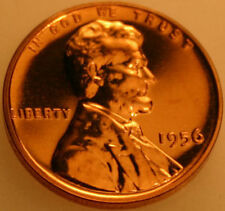 1956-P Lincoln Cent Proof Red Wheat Penny