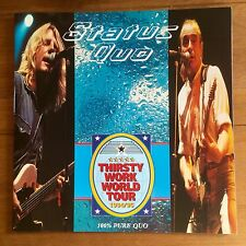 Status Quo - Thirsty Work  World Tour  Programme