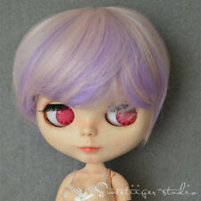 "【Tii】8-10"" NEO 12"" Blythe Hair doll wig sweet dream short curly bob not scalp"