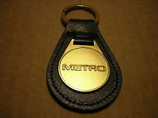 METRO KEY RING LEATHER SOLID BRASS FOB + 1 FREE