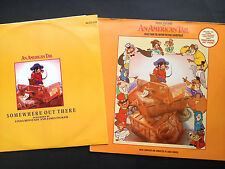 "Rare! James Horner AN AMERICAN TAIL Film Score OST LP +12"" single 1986 Spielberg"