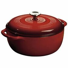 Lodge EC6D43 Enameled Cast Iron Dutch Oven, 6-Quart, Island Spice Red - NEW
