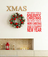 Merry Christmas Window Wall Stickers decorations Xmas. Carols, Shop,