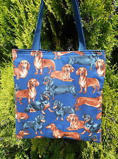 Dashund tote bag Dachshund Doxie Wiener dog dogs Handmade Purse Very Limited