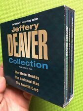 Jeffrey Deaver Boxset Audio Books 6xCDs Stone Monkey/Vannished Man/Twelfth Card