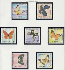 VIETNAM N°739/745** PAPILLONS, 1986 Vietnam 1693-1699 Butterflies MNH