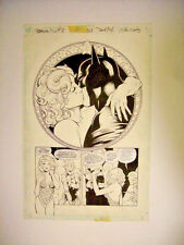 DC Comics BATMAN Detective smooch POISON IVY Original Comic Art Half-Splash Page