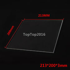 213*200*3mm MK2 Heated Bed Borosilicate Glass Plate for 3D Printer
