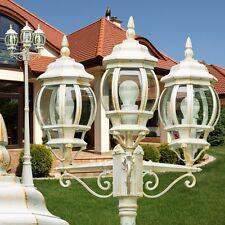 Kandelaber Wege Lampe Garten Aussen Steh Leuchte Stehlampe Laterne Weg weiß gold
