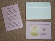 Nièce-lovely présent/cadeau un lucky sixpence & poème idéal souvenir