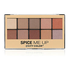City Color Spice Me Up Eye Shadow Palette Neutral Eyeshadow 10 Lightly-Shimmered