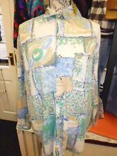 Vintage años 80 Crazy Patrón Camisa Tamaño Mediano Colores Pastel Blogger urbano