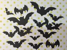 12 Die Cut Sizzix Halloween shapes BLACK FLYING BATS Cardmaking Crafting