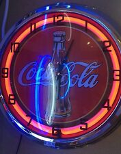 Coca Cola Red Neon Wall Clock Sign Sport Bar