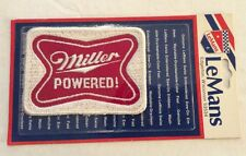 Vintage Patch Caution Miller Powered 70s Racing Funny Beer Rat Hot Rod NOS