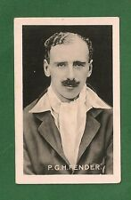 PERCY FENDER Surrey Cricket Club Captain  ENGLAND Ashes Test 1922 card