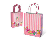 Punch Studio Lady Jayne Pink Party Treat Gift Bags 8 Ct Set – Floral Balloons...