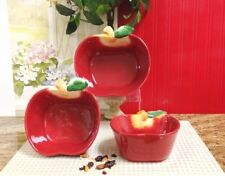 Kitchen Decor Apple Serving Bowl Canister NEW
