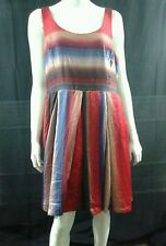 BB DAKOTA Dress Size 18 Sleeveless Striped Ombre Tie Dye Polyester Sislou A9