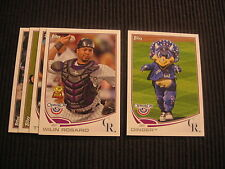 2013 TOPPS OPENING DAY COLORADO ROCKIES MASTER TEAM SET 5 CARDS MASCOT INSERT
