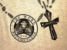 PETER 3: 3-4 lrg T shirt Bible verse Inner Beauty JOHN 1:14 Word Became Flesh