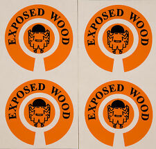 ACCLAIM Bowls Stickers One Set Of Four Complete Printed Exposed Wood Orange Blk