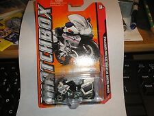 2012 Matchbox #84 BMW R1200 RT-P POLICE MOTORCYCLE - BLACK/WHITE 4/10 HIGHWAY