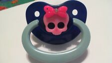 1 ADULT PACIFIER WITH CUTE GIRL SKULL FOR YOUR LITTLE ONE