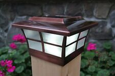 SOLAR POST CAP LED DECK FENCE LIGHTS 6X6 COPPER ELECTROPLATED FINISH 4 PACK