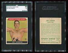 1933 Sport Kings #14 Jim Londos SGC 84 NM Cert #9007405-014