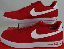 New Mens 12 NIKE Air Force 1 AC University Red White Shoes $75 630939-600